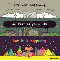 Its not happening: it's not happening  as fast as you'd like  but it is happening  A(000  raminnazer Its not happening