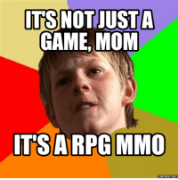ITS NOT JUST A  GAME, MOM  ITSA RPG MMO  memes Com