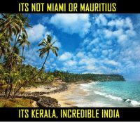 Memes, India, and 🤖: ITS NOT MIAMI DR MAURITIUS  ITS KERALA, INCREDIBLE INDIA