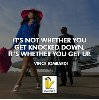 Dreads, Goals, and Memes: IT'S NOT WHETHER YOU  GET KNOCKED DOWN  IT'S WHETHER YOU GET UP  VINCE LOMBARDI  'S WHETHER YOU GET UP  502T  @vasrue2 It's not whether you get knocked down it's whether you get back up. Vince Lombardi Happy Monday are you ready most people dread Monday mornings but it's time to pounce on it like a tiger. What are you doing today what are your goals what do you want to hit what do you want to achieve today? Let's do it today let's get on it. Like this post comment or like share with a friend who needs this today. For more great content follow @vasrue2.