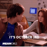 The PERFECT game to celebrate National Mean Girls Day: https://amzn.to/2QsI1kf: IT'S OCTOBER 3RD  MEANGIRLS The PERFECT game to celebrate National Mean Girls Day: https://amzn.to/2QsI1kf