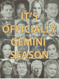 Birthday, Happy Birthday, and Gemini: IT'S  OFFICIALLY  GEMIN  SEASON  e000  May 21 to June 210 It's officially Gemini season ( May 21 to June 21 ). Happy birthday to all fellow Geminis! 💝