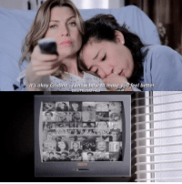 When your person just knows ❤️ (this is fake btw lol) - qotd: what's your favorite episode of grey's aotd: honestly I don't even know. Any episode where no one dies is a good episode lmao.: It's okay Cristina, know how to make you feel better.  DR LAALEGREY AU When your person just knows ❤️ (this is fake btw lol) - qotd: what's your favorite episode of grey's aotd: honestly I don't even know. Any episode where no one dies is a good episode lmao.