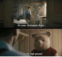 Memes, 🤖, and Robin: It's over, Christopher Robin.  I have the high ground. Yaaas!