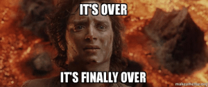 I heard this is a LotR sub now: ITS OVER  IT'S FINALLY OVER  makeameme.org I heard this is a LotR sub now