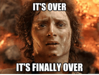ITS OVER  ITS FINALLY OVER  quick meme com As A Cubs Fan Last Night