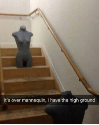 Mannequin, Nice, and High: It's over mannequin, I have the high ground Nice