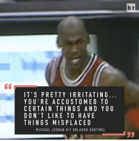 23, 45... 12? 27 years ago today, Michael Jordan's jersey was stolen from the Bulls locker room before their game vs. Orlando: IT'S PRETTY IRRITATING  YOU'RE ACCU STO MED TO  CERTAIN THINGS AND YOU  DON'T LIKE TO HAVE  THINGS MISPLACED  MICHAEL JORDAN HIT ORLANDO SENTINEL  br 23, 45... 12? 27 years ago today, Michael Jordan's jersey was stolen from the Bulls locker room before their game vs. Orlando