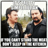 ITS PRETTY  SIMPLE ULAN  IF YOUCANT STAND THE MEAT  DON'T SLEEPINTHE KITCHEN  nngflip conn Thanks Dustin Roberts! Of course I think Randy can stand all the meat you can give him! https://www.eastsidegames.com/tpbgame_hr/ #greasymoney #itsallinthegame #byfansforfans