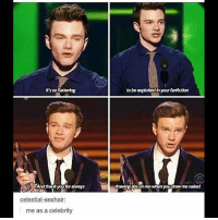 I've only seen a few episodes of Glee, because my friends told me I looked like the lovechild of Kurt and Blaine when I was younger. And I actually see it, looking at old pictures, haha. Also, I watch the episodes with Grant Gustin and with The Cello Guys. chriscolfer glee kurthummel: It's so flattering  to be exploited in your fanfiction  And thankyoufor alweys  drawingabson me whem you draw me naked  celestial-sexhair:  me as a celebrity I've only seen a few episodes of Glee, because my friends told me I looked like the lovechild of Kurt and Blaine when I was younger. And I actually see it, looking at old pictures, haha. Also, I watch the episodes with Grant Gustin and with The Cello Guys. chriscolfer glee kurthummel