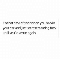 """Memes, Dresses, and Fuck: It's that time of year when you hop in  your car and just start screaming fuck  until you're warm again You might be asking yourself, """"why do I live somewhere where the air hurts my face?"""" and the reason is because everyone in year-round warm weather climates dresses like absolute diaper garbage (San Diego, I'm looking at you), layering is essential to FASHUN"""