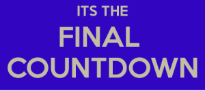 Get ready gamers: ITS THE  FINAL  COUNTDOWN Get ready gamers