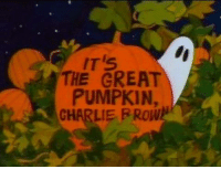 And here we go!  My Top 10 favorite Halloween specials and movies!  Number 10: It's The Great Pumpkin, Charlie Brown!  Do I even need to explain this one?  You all know it.  You've all seen it.  Bur for the sake of argument...  As the Peanuts gang is getting ready for Halloween, Linus keeps telling everyone about how on Halloween night, the Great Pumpkin will rise out of the pumpkin patch and give toys to all the good boys and girls.  Nobody believes the story except Sally, though it's unclear if she REALLY believes it or if she just wants to spend time with Linus.  Meanwhile, Charlie Brown actually receives an invitation to a Halloween party, though Lucy tells him it was a mistake.  As the gang gets ready to go Trick-or-Treating, Snoopy dresses up as a World War I flying ace to track down the Red Baron, and Sally decides to spend the night with Linus in the pumpkin patch.  Honestly, when you really examine it, there's not really much plot to this special.  Or, rather I should say there's no definite focus: You'd think it'd be on Linus since the special is named after the Great Pumpkin, but once the gang goes Trick-or-Treating, we just check in with him and Sally periodically and spend the rest of our time with the gang Trick-or-Treating or Snoopy's adventure.  So why is this special remembered so fondly?  Well, for me at least, it's just how well it taps into my childhood nostalgia for what Halloween used to be: A fun time when I dressed up in silly costumes with my friends, and went to strangers' homes demanding processed sugar, as opposed to what Halloween is for me now, sitting alone in my room, rapidly getting drunk and shame-eating crap.  Wow, that got sad much faster than I intended...  Anyway, what really gets me is the blind optimism on display in this special.  Everyone tells Linus the Great Pumpkin isn't real, but he doesn't care, he believes in it (Although, this has bothered me since I was a kid, where did Linus hear about the Great Pumpkin?  Did he mak