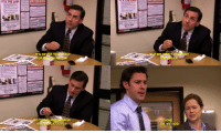 the office gifs: IT'S THE LAW  ITS NEVER TO  RLY  OR  MAYONNAISE  O THIS  AN  -ACK OLIVES  NET ANY  EAM  OH  OH, MY GOD