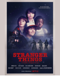 Charlie, Finn, and Memes: It's the time that  memories are made of.  STRANGER  THINGS  A Netflix Original Serjes  WINONA RYDER DAVID HARBOUR MILLIE BOBBY BROWN FINN WOLFHARD NATALIA DYER  NOAH SCHNAPP CHARLIE HEATON GATEN MATARAZZO CALEB MCLAUGHLIN Created by THE DUIFFER BROTHERS  NOW STREAMING | NE 1-7. Check out this Stand By Me-inspired Stranger Things poster! We can't wait for season 2 ❤️ via @Netflix ... StrangerThings crate is available NOW at ➡️loot.cr-strangerthings⬅️ — featuring exclusive items celebrating seasons 1 & 2 on Netflix!