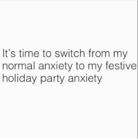 😬 Get following @thespeckyblonde @thespeckyblonde @thespeckyblonde @thespeckyblonde: It's time to switch from my  normal anxiety to my festive  holiday party anxiety 😬 Get following @thespeckyblonde @thespeckyblonde @thespeckyblonde @thespeckyblonde
