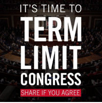 Today, I introduced bipartisan legislation to impose Congressional term limits.   Members of Congress in the House and Senate need to be focused on doing the right thing, not on doing what is best for their political careers. Term limits legislation should be a major piece of President-elect Trump's efforts to drain the swamp in Washington DC.: IT'S TIME TO  TERM  LIMIT  CONGRESS  SHARE IF YOU AGREE Today, I introduced bipartisan legislation to impose Congressional term limits.   Members of Congress in the House and Senate need to be focused on doing the right thing, not on doing what is best for their political careers. Term limits legislation should be a major piece of President-elect Trump's efforts to drain the swamp in Washington DC.