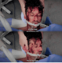 """QOTP1: Favourite food? [grilled cheese] QOTP 2: Where you upset when Derek died? 🌊🌊🌊🌊🌊🌊 SCENE REQUESTS are welcome! Just comment below 🦋 __________________________ Say """"me"""" if you would like to be tagged in the next post. (Fandoms) 👋🏻🌎✌🏻 __________________________ [ HASHTAGS ] greysanatomy greys greysfandom greysedit greysabc izzex merder slexie calzona japril crowen omelia twistedsisters japrilau arizonarobbins: It's too late  GREYSFRIENDS I 11X21  You're too late QOTP1: Favourite food? [grilled cheese] QOTP 2: Where you upset when Derek died? 🌊🌊🌊🌊🌊🌊 SCENE REQUESTS are welcome! Just comment below 🦋 __________________________ Say """"me"""" if you would like to be tagged in the next post. (Fandoms) 👋🏻🌎✌🏻 __________________________ [ HASHTAGS ] greysanatomy greys greysfandom greysedit greysabc izzex merder slexie calzona japril crowen omelia twistedsisters japrilau arizonarobbins"""