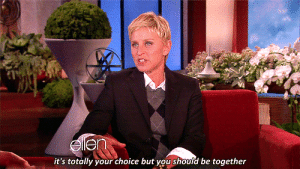 sassprincess:  every shipper ever : it's totally your choice but you should be together sassprincess:  every shipper ever