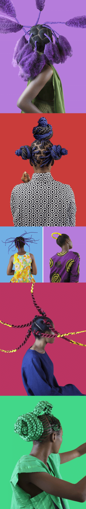 Tumblr, Blog, and Hair: itscolossal: Nigerian Hair Culture Documented in Rainbow-Hued Portraits by Medina Dugger