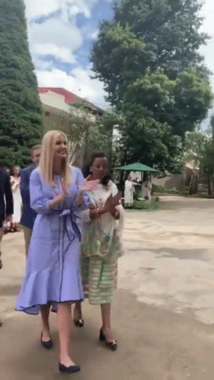 Africa, Community, and Journey: Ivanka Trump is in Africa visiting with women entrepreneurs & employees to learn and discuss their journey to become economically empowered women in their community and drivers of growth in their country. Proud of you, Ivanka! #WGDP