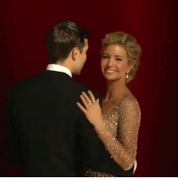 Memes, Gorgeous, and Beautiful A: @ivankatrump with her husband Jared Kushner at the inauguralball She is beyond gorgeous. No words could describe her beauty. A modern day princess. USA🇺🇸 MAGA AmericaFirst Beauty Princess IvankaTrump FirstFamily Trump CoupleGoals goals❤️ 😍