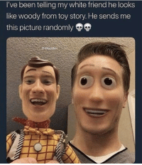 """Jesus, Memes, and Toy Story: I've been telling my white friend he looks  like woody from toy story. He sends me  this picture randomly  ickyjaden <p>Jesus I'm scared via /r/memes <a href=""""https://ift.tt/2us1Grp"""">https://ift.tt/2us1Grp</a></p>"""