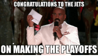 Memes, Congratulations, and Jets: IVE  CONGRATULATIONS TO THE JETS  ON MAKING THE PLAVOFFS