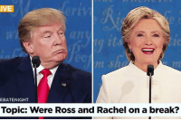 Finally a topic worth debating: IVE  EBATENIGHT  Topic: Were Ross and Rachel on a break? Finally a topic worth debating