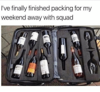 Memes, Squad, and 🤖: I've finally finished packing for my  weekend away with squad Cheers 🥂 goodgirlwithbadthoughts 💅🏼