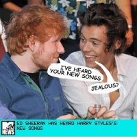 "Ed Sheeran can write a damn good song, and Harry Styles knows that. So when the 1D alum got to work on his solo album, he decided to share some tunes with a fellow Brit. _ ""[Sheeran's] one of the most talented dudes I know,"" Styles recently told BBC Radio 1 Breakfast Show host Nick Grimshaw. Grimshaw shared videos of Harry's most famous fans — Sheeran, Coldplay's Chris Martin, Rita Ora, and more — asking questions about his upcoming LP, due out May 12. Sheeran wanted all the deets: ""How many songs did you write, where did you make it, how long have you been making it for, and did you enjoy making it?"" _ Turns out, Harry and his squad penned a whopping 70 songs (""including the little ideas"") before narrowing down the tracklist to 10 favorites like ""Sign of the Times."" _ ""I played [Sheeran] a couple of songs after the album was finished. He liked one that wasn't on there, so I had a little minute of like [hesitation],"" Harry said, making a face. _ In between all that writing, Styles took a five-month break to shoot Dunkirk, a World War II movie that required ""quite a lot"" of swimming. He's THIS CLOSE to drowning in the harrowing trailer. _ ""I think it was good for me,"" Styles reflected. ""Before all I'd thought about was stressing about what [the album] was going to be. [Dunkirk] gave me a chance to be completely a step away from it and have a real break and then also, by the end of the movie, because we were swimming so much, I was like, Oh, can I just go write some songs in the studio?"" _ He may be drenched on his album cover, but it looks like this singer prefers dry land instead. _ by Deepa Lakshmin: I'VE HEARD  YOUR NEW SONGS  JEALOUS?  ED SHEERAN HAS HEARD HARRY STYLES'S  NEW SONGS  NEWS Ed Sheeran can write a damn good song, and Harry Styles knows that. So when the 1D alum got to work on his solo album, he decided to share some tunes with a fellow Brit. _ ""[Sheeran's] one of the most talented dudes I know,"" Styles recently told BBC Radio 1 Breakfast Show host Nick Grimshaw. Grimshaw shared videos of Harry's most famous fans — Sheeran, Coldplay's Chris Martin, Rita Ora, and more — asking questions about his upcoming LP, due out May 12. Sheeran wanted all the deets: ""How many songs did you write, where did you make it, how long have you been making it for, and did you enjoy making it?"" _ Turns out, Harry and his squad penned a whopping 70 songs (""including the little ideas"") before narrowing down the tracklist to 10 favorites like ""Sign of the Times."" _ ""I played [Sheeran] a couple of songs after the album was finished. He liked one that wasn't on there, so I had a little minute of like [hesitation],"" Harry said, making a face. _ In between all that writing, Styles took a five-month break to shoot Dunkirk, a World War II movie that required ""quite a lot"" of swimming. He's THIS CLOSE to drowning in the harrowing trailer. _ ""I think it was good for me,"" Styles reflected. ""Before all I'd thought about was stressing about what [the album] was going to be. [Dunkirk] gave me a chance to be completely a step away from it and have a real break and then also, by the end of the movie, because we were swimming so much, I was like, Oh, can I just go write some songs in the studio?"" _ He may be drenched on his album cover, but it looks like this singer prefers dry land instead. _ by Deepa Lakshmin"
