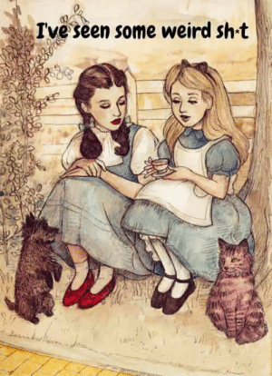 srsfunny:Alice And Dorothy Bonding: Ive seen some weird sh t srsfunny:Alice And Dorothy Bonding