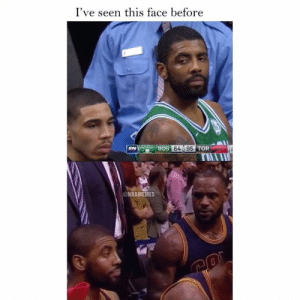 Nba, Face, and This: I've seen this face before  : BOS  BOS 64 95  SN  @NBAMEMES 👀👀