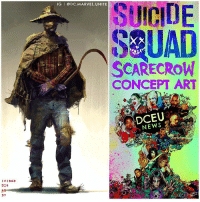 Memes, Villain, and 🤖: IVIDAD  014  AD  DY  IG I DC. MARVEL UNITE  SUICIDE  SEUAD  SCARECROW  CONCEPT ART  DCEU New SuicideSquad Concept Art Reveals That The Batman Villain known as ' ScareCrow' was almost in The Film ! That Concept looks really good, very comic Accurate to the OG DCComics ! Hopefully he'll show up in The DCEU in the future, either SuicideSquad2 or a Sequel to ' TheBatman' ! Comment Below your Thoughts and what DC Villains do you want to see in 'SUICIDE SQUAD 2' ! DCExtendedUniverse 💥 DCFilms 💀