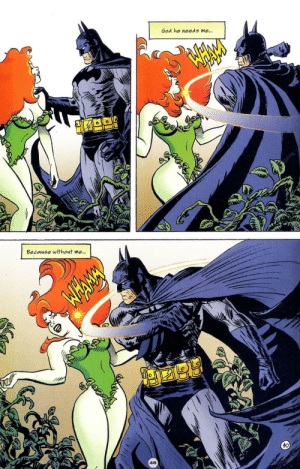 Ivy satisfies Batman: Ivy satisfies Batman