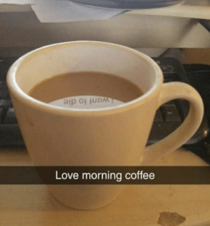 Love, Coffee, and Irl: iwant to die  Love morning coffee Me irl