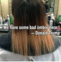 Who knew Donald was such an expert on hairstyles?: iWe have some bad ombre here.  Donald Trump  Quite RichKicks.com Who knew Donald was such an expert on hairstyles?