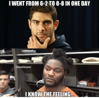 Life comes at you fast. https://t.co/eKefU6dxPC: IWENT FROM 6-2 TO 0-8 IN ONE DAY  @bestnflmemez  I KNOW THE FEELING... Life comes at you fast. https://t.co/eKefU6dxPC