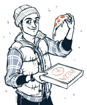 juanjoltaire: Inktober #5: Pizza  Josh as played by Rami Malek from Until Dawn.   Can we order pizza?   : IZZIA juanjoltaire: Inktober #5: Pizza  Josh as played by Rami Malek from Until Dawn.   Can we order pizza?