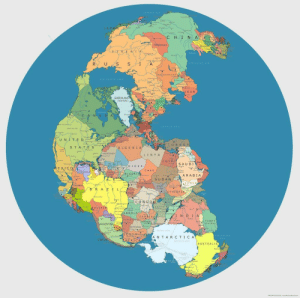 Click, Tumblr, and Australia: J A P  N- A  MONGOLIA  RAN  GREENLAND  DENMARK)  N A  T UR  S TATE S  LGERIA  LIBY A  G Y P T  SAUDI  NIGE R  CHAD  t G  ARABIA  SUDAN  YEMEN  lmsR CENTRAFR  ETHIOPIA  PERU  ON GO  ANG o L  TIBET  A N T A R C TIC A  CHILE  RIC  AUSTRALIA land-of-maps:  Pangaea with Modern International Borders [1600 × 1587]CLICK HERE FOR MORE MAPS!