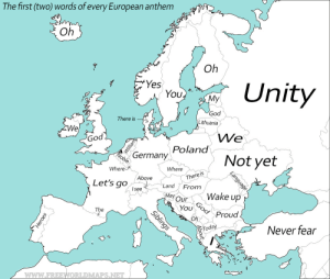 "j-ellyfish:  sherlockscones:   hmas-sydney:  mapsontheweb: The beginning of each European anthem (fixed) When Lithuania got an authoritarian head of state in 1926   Brexit       Yeah. Germanies Anthem begins with Germany. But only if you use the Version that was abolished after '45.If you would use the Version of our Anthem we use today it would begin with ""Unity"" : j-ellyfish:  sherlockscones:   hmas-sydney:  mapsontheweb: The beginning of each European anthem (fixed) When Lithuania got an authoritarian head of state in 1926   Brexit       Yeah. Germanies Anthem begins with Germany. But only if you use the Version that was abolished after '45.If you would use the Version of our Anthem we use today it would begin with ""Unity"""