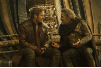 Chris Pratt wanted Peter Quill to tell Ego he looks like Kurt Russell. http://bit.ly/2qUZUz2  (Andrew Gifford): J. L Chris Pratt wanted Peter Quill to tell Ego he looks like Kurt Russell. http://bit.ly/2qUZUz2  (Andrew Gifford)
