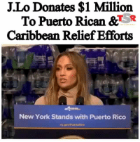 🇵🇷❤💙 Love Don't Cost A Thing 🙏🏾💸💕 JenniferLopez is coming through for her home base of Puerto Rico y'all!! _____________________________________ The singer announced that she will be donating $1 million from her Las Vegas show proceeds to Puerto Rican & Caribbean relief. _____________________________________ She recently held a press conference where she spoke about the efforts she and her boo AlexRodriguez are making to ensure a successful turnover. Repost @theshaderoom TSRStaff: Thembi ( @ThembiTV_ ): J.Lo Donates $1 Million  To Puerto Rican &TR  Caribbean Relief Efforts  New York Stands with Puerto Rico 🇵🇷❤💙 Love Don't Cost A Thing 🙏🏾💸💕 JenniferLopez is coming through for her home base of Puerto Rico y'all!! _____________________________________ The singer announced that she will be donating $1 million from her Las Vegas show proceeds to Puerto Rican & Caribbean relief. _____________________________________ She recently held a press conference where she spoke about the efforts she and her boo AlexRodriguez are making to ensure a successful turnover. Repost @theshaderoom TSRStaff: Thembi ( @ThembiTV_ )