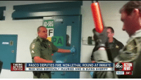 Community, Fire, and Jail: J220  AD- SEG  TAKING hl PASCO DEPUTIES FIRE NON-LETHAL ROUND AT INMATE II, ACTION  PORY 60 I INAN WASSEROUS YIN URIDANDISSUINGSHERIEFI  NEWS  11:07 84° Matthew Trevino, an Army veteran with a history of mental illness, was having a schizophrenic episode in the Pasco County Jail. When he resisted detention deputies, guards escalated things by shooting him with a 12-gauge shotgun loaded with a Nova round. FOR FULL STORY VISIT: https://bit.ly/2nS7s2x #digginginthefiles Join our new group for the latest updates: Police Accountability & Filming Cop Community