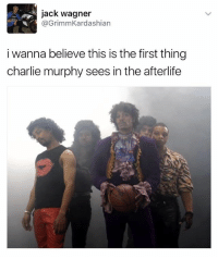 Charlie, Charlie Murphy, and Versace: jack wagner  @GrimmKardashian  i wanna believe this is the first thing  charlie murphy sees in the afterlife Rip Charlie Murphy , such a legend 🙏 rp @versace_tamagotchi 👌