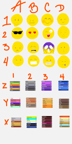 jacketyjackjack-fr:  An emoji + flight rising color pallet challenge! Send me a character, and two letter/number combos!!: jacketyjackjack-fr:  An emoji + flight rising color pallet challenge! Send me a character, and two letter/number combos!!