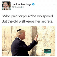 """aaa: Jackie Jennings  @ohhijackie  """"Who paid for you?"""" he whispered  But the old wall keeps her secrets.  CSPAN  C-span org aaa"""