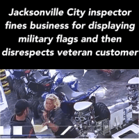 "Friends, Guns, and Life: Jacksonville City inspector  fines business for displaying  military flags and then  disrespects veteran customer UNBELIEVABLE 🤬 Caught on Camera: ""She [Power] says 'What did you do for this country?'"" Klasse said. ""He says 'I took three bullets to the leg. I almost lost my life for this country. I'm retired. I'm a veteran.' She gets in his face this close and says 'You did nothing for this country.'"" Tag friends & Follow 🔊 👉🏽 @unclesamsmisguidedchildren - tactical military weapons guns getafterit militarymuscle 2ndamendment secondammendment 2A SemperFi airforce USMC navy army guncontrol veteranlife coastguard airforce concealedcarry opencarry gunsofinstagram militarylife igmilitia ar15 iggunslingers pewpew ccw Pewpewpew shallnotbeinfringed MolonLabe UncleSamsMisguidedChildren"