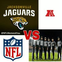 AFC Championship Game, Nfl, and Game: JACKSONVILLE  JAGUARS  @NFLMemes4You  NFL The AFC Championship Game is set. https://t.co/uTq1SrlVMA