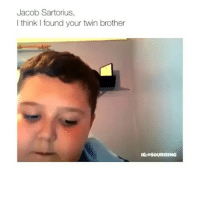 follow @hoodhumors for more!: Jacob Sartorius,  I think I found your twin brother  IG: PSOURISING follow @hoodhumors for more!